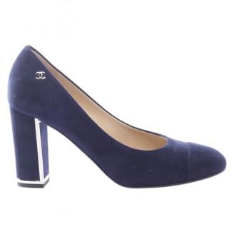 Chanel Blue Suede Heels