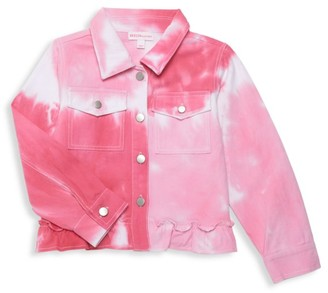 Design History Little Girl's & Girl's Tie-Dye Denim Jacket