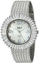 Burgi Women's BUR076WT Mother-Of-Pearl Diamond and Baguette Bracelet Watch