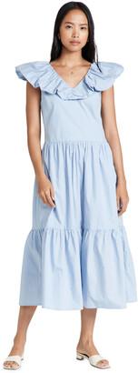 ENGLISH FACTORY Ruffled Midi Dress