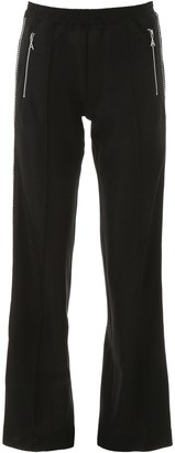Area Embellished Wide-Leg Trousers
