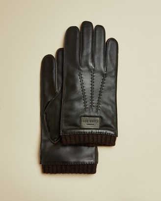 Ted Baker BLOKEY Ribbed cuff leather gloves