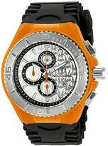 Technomarine Women's Quartz Watch with Silver Dial Chronograph Display and Black Silicone Strap TM-115194