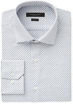 Andrew Marc Men's Slim-Fit Motion-Ease Collar Wrinkle-Free Box-Print Dobby Dress Shirt