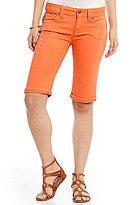 Miss Me Colored Destructed Bermuda Denim Shorts