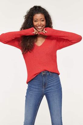Ardene Ribbed V-neck Sweater
