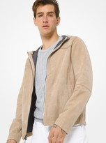 Michael Kors Bonded Suede Hooded Jacket