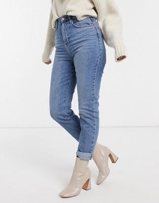 New Look super high waist enhance mom jeans in blue