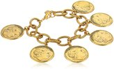 Yochi Plated Alexander Multi-Coin Bracelet