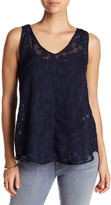 Joe Fresh V-Neck Embroidered Lace Tank