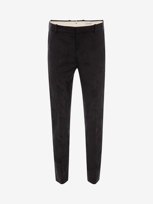Alexander McQueen Tonal Thistle Jacquard Pants