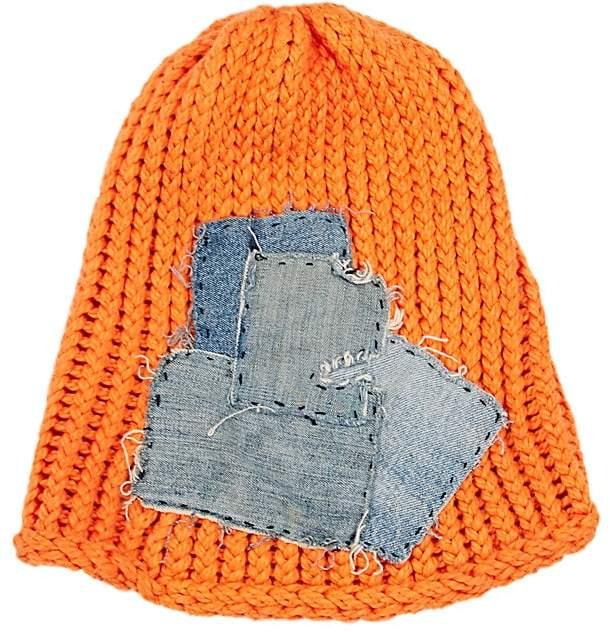 Greg Lauren Women's Denim-Patch Wool Beanie
