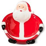 Threshold Figural Santa Ceramic Candy Dish Red
