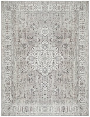 "World Menagerie Southmont Oriental Flatweave Ivory Area Rug Rug Size: Rectangle 7'6"" x 9'6"""