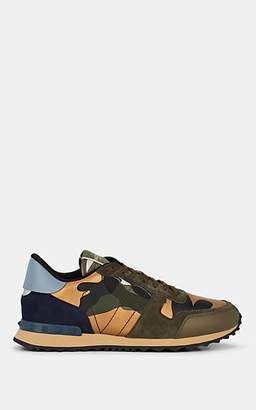 Valentino Garavani Men's Rockrunner Leather & Suede Sneakers - Olive