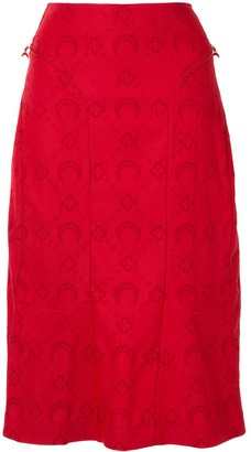 Marine Serre Moon Jacquard Mini Skirt