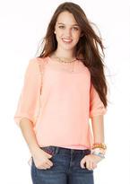 Delia's Lace Shoulder Blouse