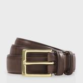 Paul Smith Men's Brown Leather Classic Suit Belt
