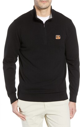 Cutter & Buck Cincinnati Bengals - Lakemont Regular Fit Quarter Zip Sweater