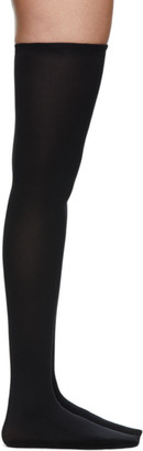Wolford Black Fatal 80 Seamless Stay-Up Thigh-High Socks