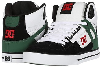 DC High-Top WC (White/Green/Black) Men's Skate Shoes
