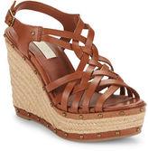 Lauren Ralph Lauren Stacey Leather Espadrille Wedge Sandals