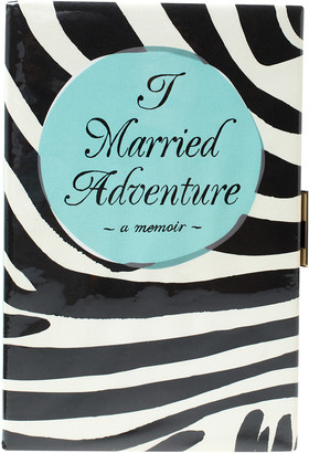 Kate Spade Tri Color PVC and Canvas I Married Adventure Clutch