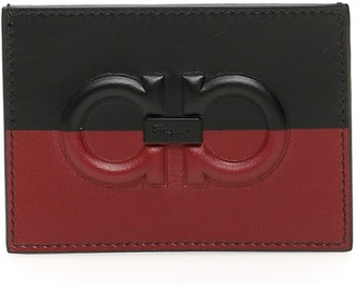Salvatore Ferragamo Bicolor Credit Card Holder