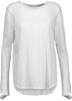 Helmut Lang Cutout Cotton And Cashmere-Blend Top