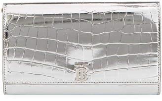 Burberry Hannah Chain Metallic Faux Croc Bag