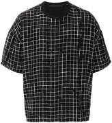 Haider Ackermann grid print T-shirt