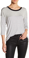 Hip 3/4 Length Sleeve Stripe Tee