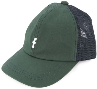 Familiar logo embroidered trucker cap