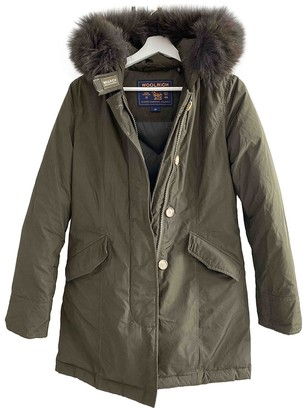 Woolrich Khaki Coat for Women