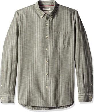 Goodthreads Standard-fit Long-sleeve Plaid Chambray Shirt