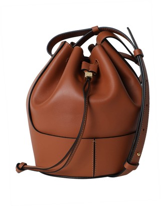 Loewe Small Balloon Drawstring Shoulder Bag Tan