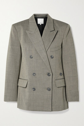 Tibi Luka Double-breasted Twill Blazer - Gray