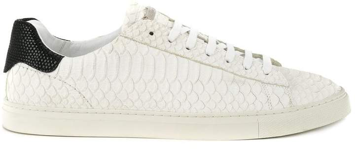 DSQUARED2 snake embossed sneakers