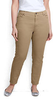 Classic Women's Plus Size Mid Rise Slim Leg Jeans-French Walnut