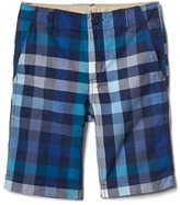 Gap Plaid flat front shorts