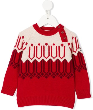 Moncler Enfant Embroidered Knitted Sweater