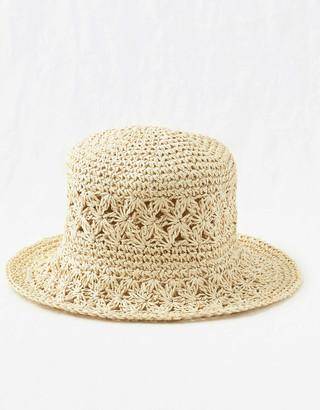 aerie Crochet Bucket Hat