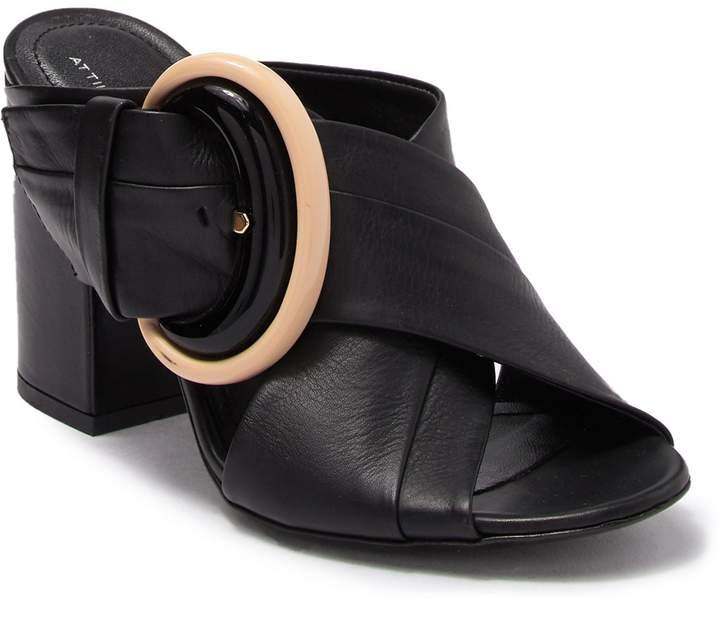 Attilio Giusti Leombruni Block Heel Leather Mule