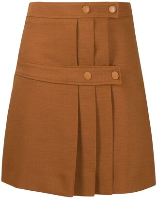 See by Chloe Double-Panelled Pleat Skirt
