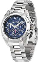 Sector Men's 43mm Chronograph Silver Steel Bracelet & Case Watch R3253581002