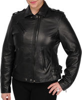 JCPenney Excelled Leather Excelled Motorcycle Jacket
