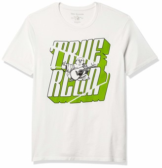 True Religion Men's Angle Buddha Graphic Short Sleeve Crewneck Tee