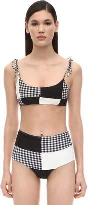 Paper London Sunshine Patchwork Bikini Top