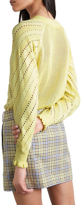 See by Chloe Pointelle-knit Cotton And Alpaca-blend Sweater