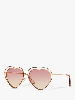 Chloé CE131S Women's Heart Shaped Butterfly Sunglasses